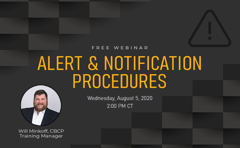 Webinar Wednesday Alert and Notification Procedures for Continuity